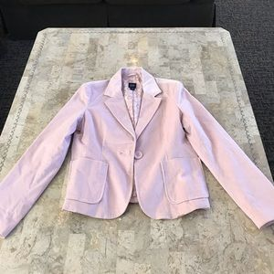 Gap pink velvet satin lined blazer size large